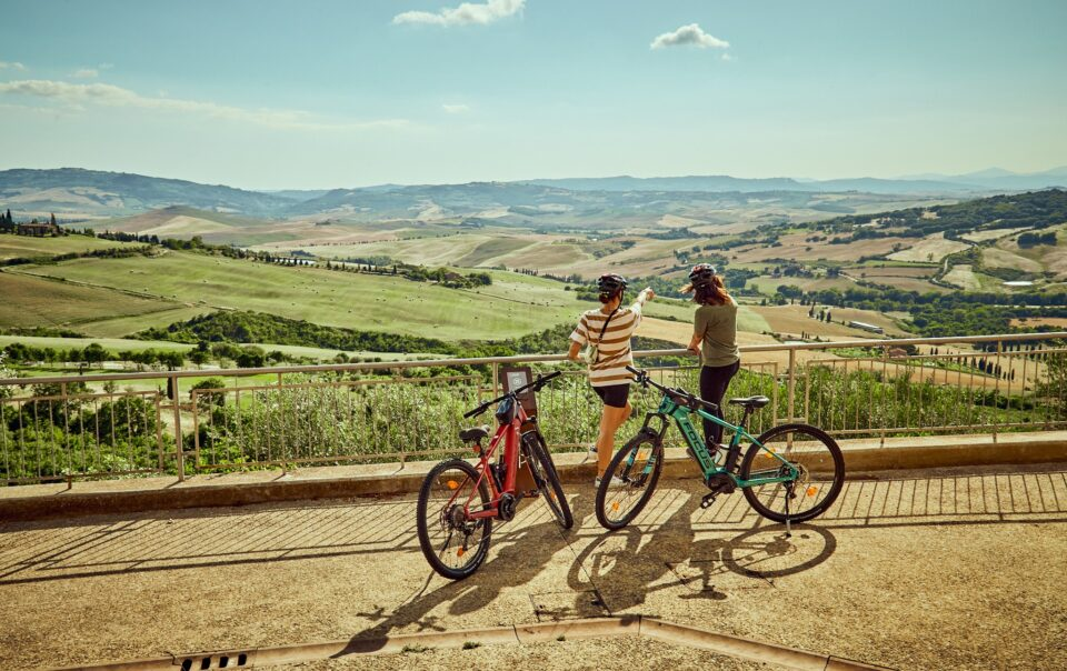Itinerario in bici in Val d'Orcia